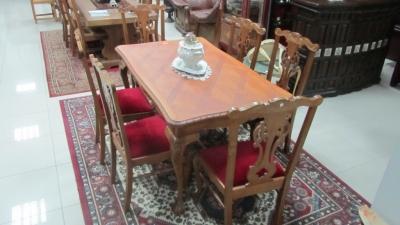 трапезарна маса 21 стил Чипъндейл с 6 бр. столове